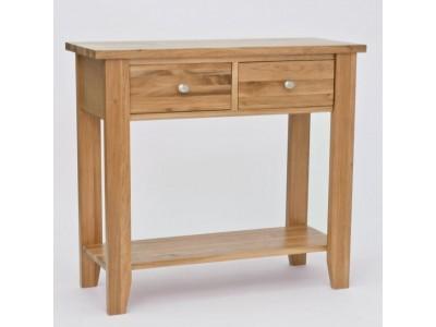 Lansdown Oak 2 Drawer Console Table