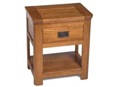 London Oak Lamp Table
