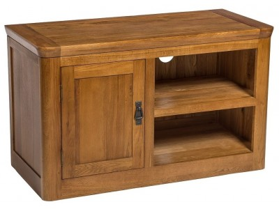 London Oak Small TV Unit