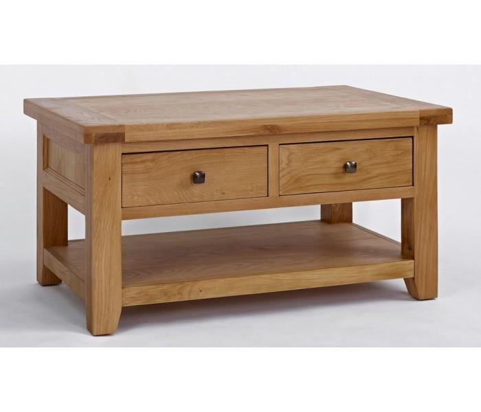 Devon Oak Coffee Table 2 Drawers