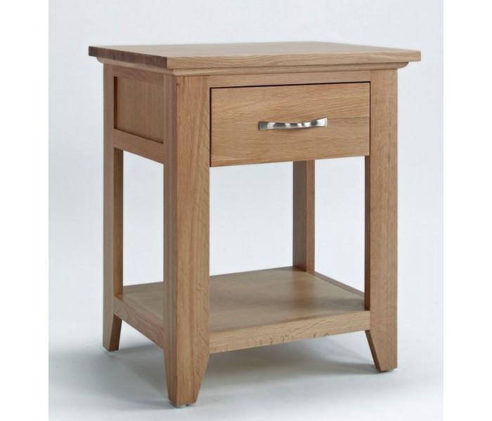 Sherwood oak 1 drawer bedsidelamp table aloadofball Image collections